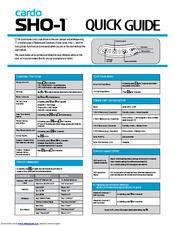 cardo systems sho 1 manuals rh manualslib com cardo scala rider g9x user manual cardo scala rider g9x user manual