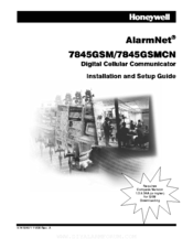 Honeywell AlarmNet 7845GSMCN Installation And Setup Manual