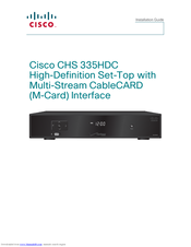 Cisco CHS 335HDC Installation Manual