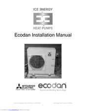 Mitsubishi Electric Ecodan Installation Manual
