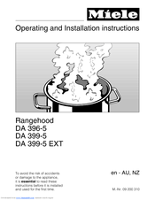 Miele DA 399-5 Operating And Installation Instructions