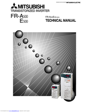 Mitsubishi Electric FR-A500 Series Technical Manual