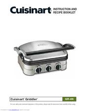 cuisinart griddler gr 4n manuals rh manualslib com cuisinart griddler deluxe instruction booklet cuisinart grill instruction manual