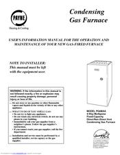 Payne PG9MAA User's Information Manual