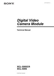 Sony XCL5005CR Technical Manual