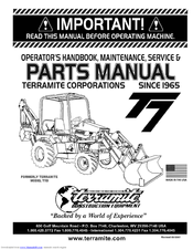 manuals and user guides for terramite t5d  we have 1 terramite t5d manual  available for free pdf download: operator's handbook, maintenance, service  & parts