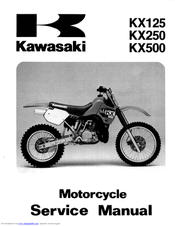 Kawasaki KX250 Service Manual