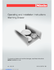 Miele ESW 6580 Operating And Installation Instructions