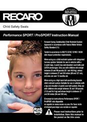 recaro performance sport instruction manual pdf download rh manualslib com BMW Recaro ProSPORT Recaro Booster Seat