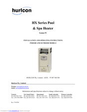 hurlcon hx series manuals rh manualslib com Raypak Pool Heater Manuals Manual Heater Valve