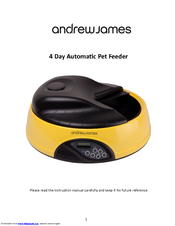 andrew james 4 day automatic pet feeder manuals rh manualslib com andrew james automatic pet feeder manual andrew james automatic pet feeder instructions pdf