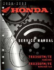 2001 honda trx 350 wiring diagram honda trx350tm rancher service manual pdf download manualslib  honda trx350tm rancher service manual