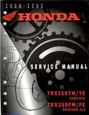 Honda TRX350FE fourtrax 350 4x4 ES Manuals | ManualsLib | Trx350fe 2002 Wiring Diagram |  | ManualsLib
