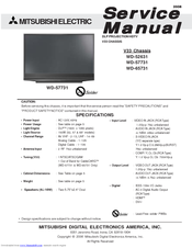 Mitsubishi wd-65731, v33, service manual & schematics download.