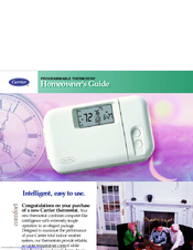 carrier programmable thermostat manuals rh manualslib com instruction manual for carrier programmable thermostat Carrier Non Programmable Thermostat Manual