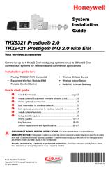 honeywell thx9321 prestige 2 0 system installation manual pdf download rh manualslib com Honeywell Thermostat Honeywell Thermostat