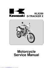 kawasaki klx250 d tracker x manuals