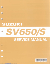 suzuki sv650 s service manual pdf download rh manualslib com sv650 service manual 2016 sv650 service manual pdf download