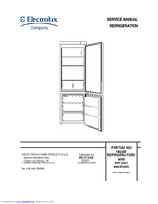 Electrolux FROST REFRIGERATORS with ERF2021 electronic Manuals