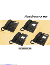 alcatel omnipcx 4400 manuals rh manualslib com alcatel omnipcx 4400 manual español alcatel omnipcx 4400 user guide