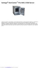 iomega storcenter pro nas 150d manuals rh manualslib com iomega storcenter pro 150d user manual iomega nas 150d reset