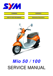 sym mio 50 service manual pdf download rh manualslib com