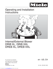Miele DREB XXL Operating And Installation Instructions