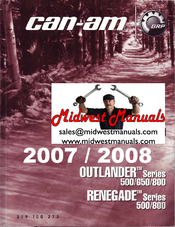can am renegade series 800 manuals rh manualslib com 2007 can am outlander 500 service manual can am outlander 500 maintenance manual