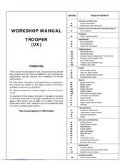 Isuzu Trooper 1999 Workshop Manual Pdf Download Manualslib