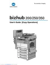konica minolta bizhub 250 manuals rh manualslib com Bizhub 200 Driver Bizhub 200 250 350 Manual