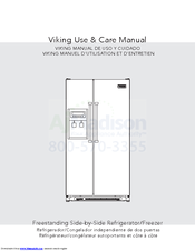 viking freestanding side by side refrigerator manuals rh manualslib com viking appliances manuals viking refrigerator manual