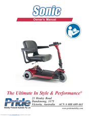 pride mobility sonic user manual pdf download rh manualslib com Sonic Electric Scooters Sonic Scooter Flashes 3 Code