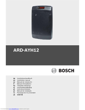 Bosch ARD-AYH12 Installation Manual