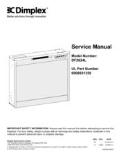 dimplex df2624l manuals dimplex df2624l service manual 12 pages electric firebox fireplace