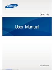 Samsung GT-N7105 User Manual