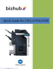 konica minolta bizhub c550 series manuals rh manualslib com minolta bizhub c550 manual Konica Minolta
