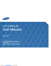 SAMSUNG UE46D USER MANUAL Pdf Download
