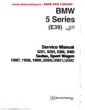 Bmw E39 Manuals Manualslib