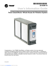 trane cleaneffects 32 5038 10 user s information manual pdf download rh manualslib com Trane CleanEffects System Trane CleanEffects Recall
