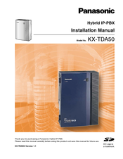 Panasonic KX-TDA5166 Installation Manual