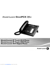 alcatel lucent enterprise 4018 manuals rh manualslib com alcatel-lucent phone user guide alcatel lucent 8039 executive handset user guide