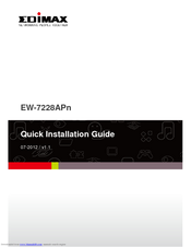 Edimax EW-7205AP Wireless Range Extender Download Driver