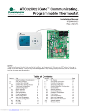 ClimateMaster Thermostat ATC32U02 Digital