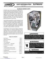 lennox slp98uhv series unit information pdf download rh manualslib com