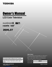 toshiba 26hl37 manuals rh manualslib com Toshiba TV Owners Manual Toshiba TV Owners Manual