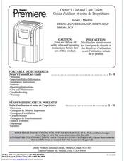 danby premiere dehumidifier ddr45e manual