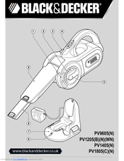 Black & Decker Dustbuster PV1805N Original Instructions Manual