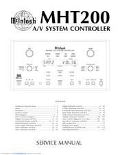 mcintosh mht200 manuals rh manualslib com McIntosh MHT200 Manual McIntosh Receiver Surround