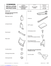 Honda 08B06-SDR-100 Installation Instructions Manual
