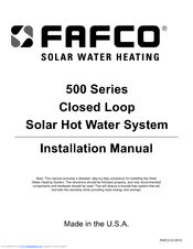 Fafco 500 Series Manuals